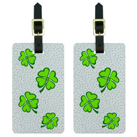Lots of Luck - Lucky Irish Four Leaf Clover Luggage Tag Set