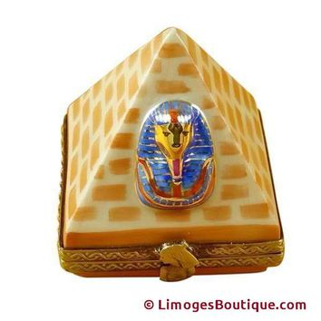 EGYPTIAN PYRAMID LIMOGES BOXES