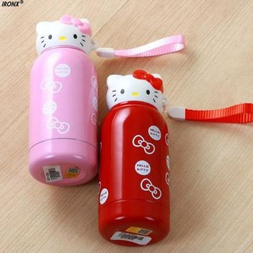 280ml/200ml Cute Hello Kitty Water bottle Cartoon Stainless Steel kettle Insulation Birthday Gift Kids Rewarding MI