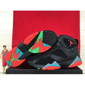 Air Jordan 7 Retro Aj7 Wine Red Color Men Basketball Shoes Us8 13