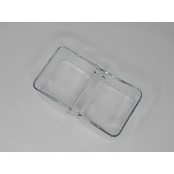 Unbranded/Generic Pickle Tray Dish 8in L x 5in W x 3in H Clear Vintage Glass -- Used