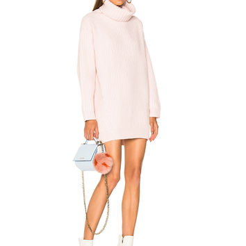 Acne Studios Disa Turtleneck Sweater in Light Pink | FWRD