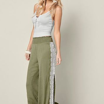 OLIVE Lace Side Slit Easy Pants from VENUS