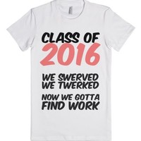 c/o 2016-Female White T-Shirt