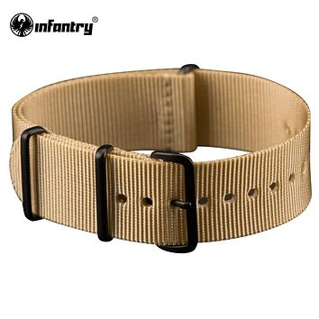 Watch Strap Strong Nylon Desert Smooth Camouflage Men's Watch Band Strong Canvas Belts For Watch