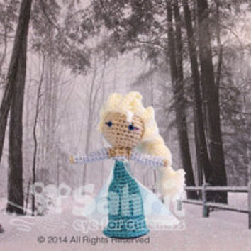 PATTERN Instant Download Elsa Frozen Crochet Doll Amigurumi