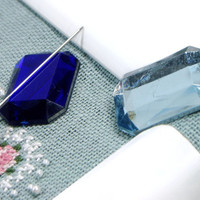 Faceted Rectangular Needle Minder Beaded Needle Magnet Cross Stitch Hardanger Needlepoint Gadget DIY Crafts Needle Keeper