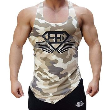 Men Army Camouflage Tank Tops