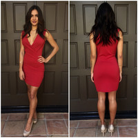 Be Mine Bodycon Dress - Red