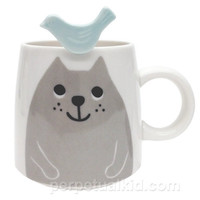 CAT & BIRD MUG & SPOON SET
