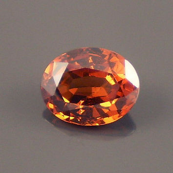 Malaya Garnet: 2.40ct Orange Oval Shape Gemstone, Natural Hand Made Faceted Gem, Loose Precious Mineral, OOAK Crystal Jewelry Supply 20212