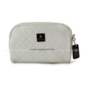 Elegant Women Handbag Waterproof Cosmetic Bag Travel Organizer Toiletry Bag Pearl White