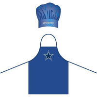 Dallas Cowboys NFL Barbeque Apron and Chef's Hat