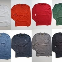 NEW Men Polo Ralph Lauren T Shirt LONG SLEEVE Size S M L XL XXL CLASSIC FIT