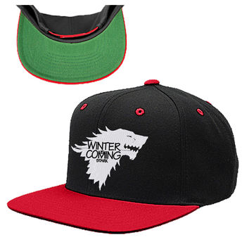 WINTER IS COMING STARK SNAPBACK