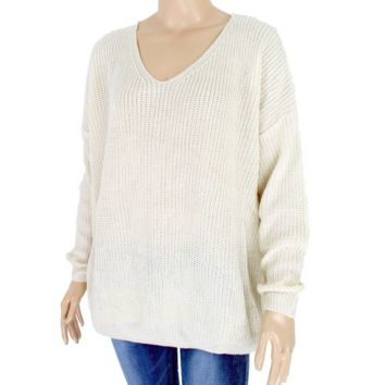 Women's Lace Up Back Sweater