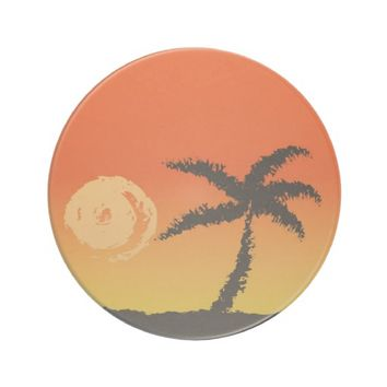 Island Sunset Sandstone Coaster
