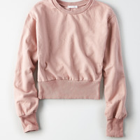 Don't Ask Why Blouson Sleeve Sweatshirt, Rose
