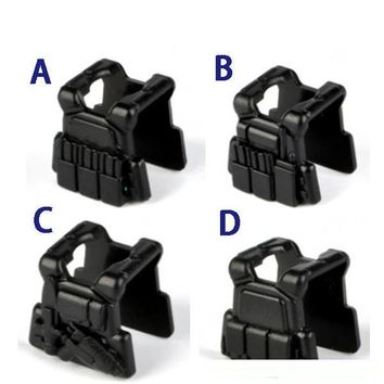 4style Tactical vest Original Blocks Educational Toys Swat Police Military Weapons Gun Model City Accessories kid Mini figures