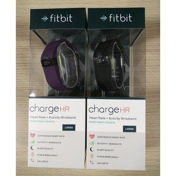 NEW Fitbit Charge HR Activity Fitness Heart Rate + Sleep Wristband Purple&Black