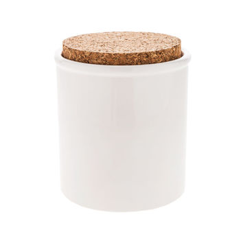 White Round Canister with Cork Lid - Small | Hobby Lobby | 5850433