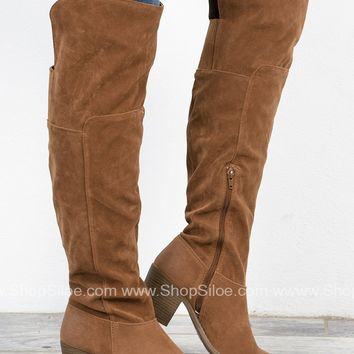 Suede Oil Finish Boots | Camel