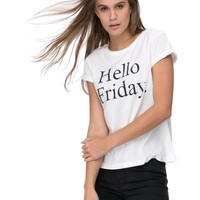 Hello Friday Tee by M.N.G Online | THE ICONIC | Australia