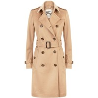 Burberry Kensington Long Cashmere Trench Coat Camel | Harrods