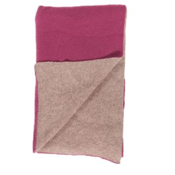 Merino / Cashmere Double Faced Knit Cashmere Throw by Alashan