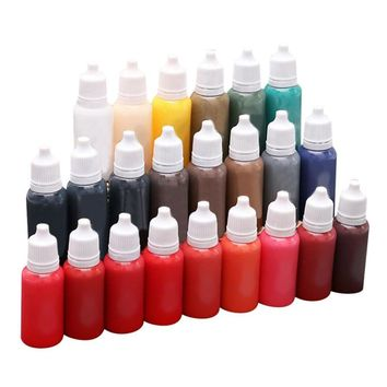 ISHOWTIENDA 15ml/Bottle tattoo pigment Professional Tattoo Ink 23 Colors Set 1oz Tattoo Pigment Kit microblading pigment tinta
