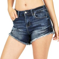 Mid Key Denim Shorts