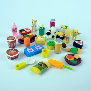 Japanese 20 types chinese japan sweet food Sushi Lamian Noodle Lunch snack oden Sashimi Taiyaki candy toy Eraser kids Gift