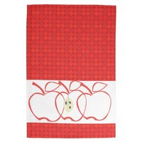 Modern PolkaDots Patterns Apple Kitchen Designs Hand Towel from Zazzle.com