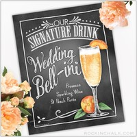 Signature Drink Sign : Wedding Bellini