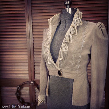 Romantic Bohemian Upcycled Velvet Jacket with by LilithPearl