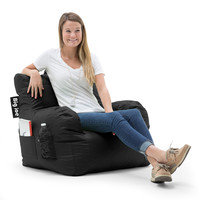 Big Joe Dorm Chair Limo Black Stretch Limo Black