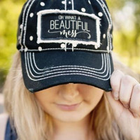 Polka Dot Oh What a Beautiful Mess Hat