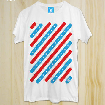 "New ""Stars x Striped"" Graphic T-Shirt  / 100% comb cotton / unisex / Men Clothing / Women Tees"