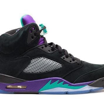 spbest Air Jordan 5 Retro Black Grape