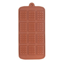 Silicone Biscuit Chocolate Mold Tray (Coffee)