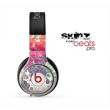 The Vintage WaterColor Droplets Skin for the Beats by Dre Pro Headphones