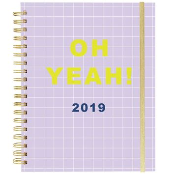 OH YEAH! Large Wiro Agenda 2019 Planner in Lavender