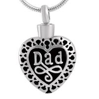 "Cremation ""Dad Heart"" Urn Necklace"