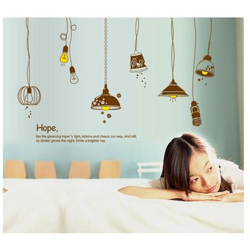 Removable Ceiling Lamp Mural Wall Sticker Home Decor Decal wall stickers home decor living room