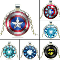 Super Hero Necklace - Silver Chain