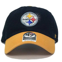 Pittsburgh Steelers Two-Tone '47 Brand Adjustable Cap + Custom Swarovski Crystals