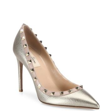 Valentino - Leather Rockstud Pumps