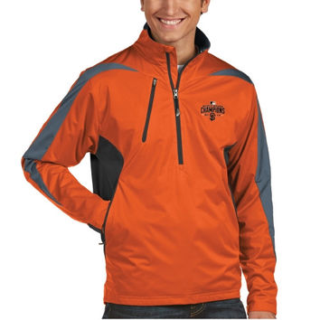 San Francisco Giants Antigua 2014 World Series Champions Discover Half-Zip Rain Jacket – Orange