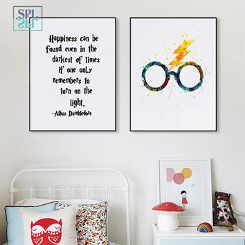 SPLSPL Magic Glasses Wall Art Print Picture And Poster Harry Potter Canvas Painting Home Decoration for Kids Room No Frame