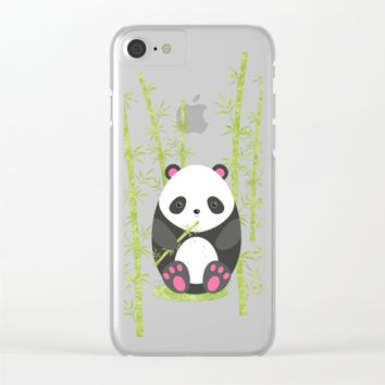 Panda  Clear iPhone Case by eDrawings38